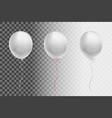 white flying balloon on a transparent background vector image vector image