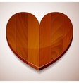 wood background heart vector image vector image