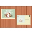 Holiday Postcard New Year Background vector image