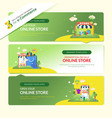 3 sets web banners for e-commerce vector image vector image