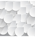 Abstract 3D Drops on a gray background vector image vector image