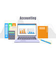 accounting laptop concept background flat style vector image