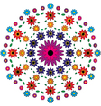 adult coloring book page floral mandala pattern vector image vector image