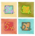 assembly flat shading style icon exam score vector image vector image