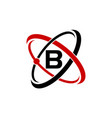 atom technology initial b vector image
