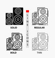 audio hifi monitor speaker studio icon in thin vector image