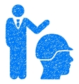 Builder Management Grainy Texture Icon vector image vector image