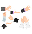 businessman arm hands deafmute gestures vector image vector image