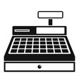 cash machine icon simple style vector image
