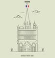 church of notre-dame of dijon vector image vector image