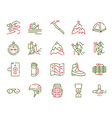 color linear icon set climbing hiking vector image vector image