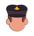 commercial pilot avatar cartoon vector image