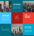 company mission vision values template vector image vector image