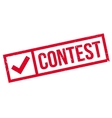 Contest rubber stamp vector image vector image