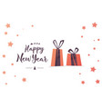 creative happy new year 2018 greeting card design vector image