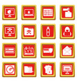 criminal activity icons set red vector image vector image