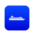 cruise liner icon digital blue vector image vector image