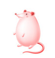 cute happy cartoon rat character vector image
