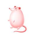 cute happy cartoon rat character vector image