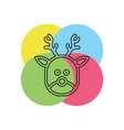 deer icon xmas silhouette symbol winter holiday vector image