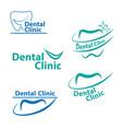 dental logo designcreative dentist logo dental vector image vector image