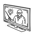 education webinar icon doodle hand drawn vector image