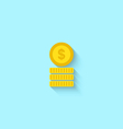 Flat Icon of Golden Coins vector image vector image