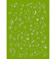 floral elements sketch vector image vector image