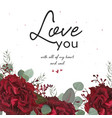 floral valentine card beauty floral art design vector image