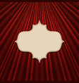frame on a textile red background vector image vector image