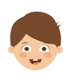 Front head boy isolated icon design vector image