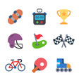 games and sport colored trendy icon pack 3 vector image vector image