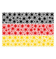germany flag collage of snowflake items vector image