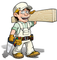 Handyman Carpenter White vector image