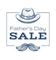 happy father s day sale offer cute poster with vector image