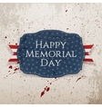 Happy Memorial Day textile Sign and Ribbon vector image vector image