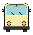 hippie van transport vehicle icon vector image vector image