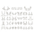 horns with eyes and ears vector image