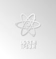 Icon flat element design atom vector image vector image