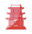 japanese building architecture traditional house vector image vector image