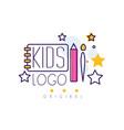 Kids logo original creative concept template