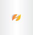 letter h logo h orange logotype vector image