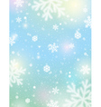 Light background with bokeh and blurred snowflakes vector image vector image