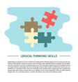 logical thinking concept in flat vector image