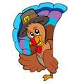 lurking thanksgiving turkey vector image