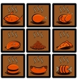 Meal icons set vector image vector image