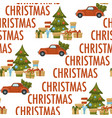merry christmas winter holiday celebration and vector image vector image