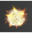 New realistic explosion symbol vector image vector image