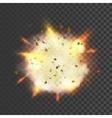 New realistic explosion symbol vector image