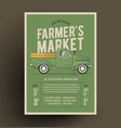 old style farmers pickup vector image vector image